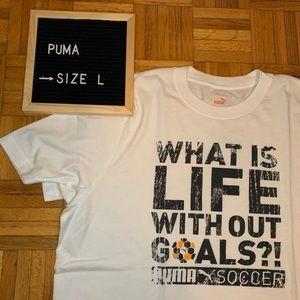 Puma Graphic Soccer Tee Shirt Men's Size Large